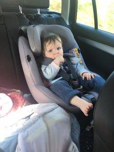 Lieke in de auto, meivakantie Denemarken